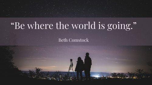 _Be where the world is going 3